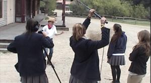 Media production class on set
