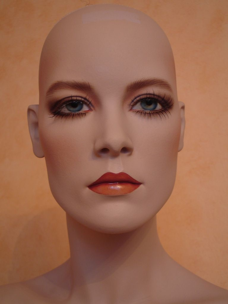 Photo of a mannequin head